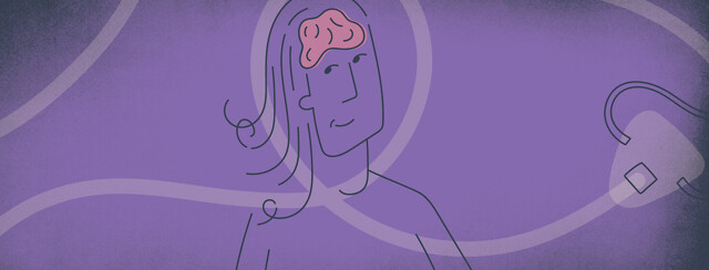 a woman who's brain is being protected by CPAP tubing